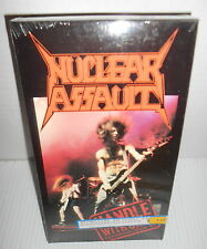 NUCLEAR ASSAULT VHS FACTORY SEALED NEW HANDLE WITH CARE RARE 1989 THRASH METAL