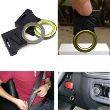 Outdoor EDC Survival Rope Car Seat Belt Cutter Cut Hook Thumb Grip Keychain Ring