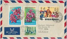 56570 -  FLOWERS: ORCHIDS - INDONESIA -  POSTAL HISTORY:  STAMPS on COVER 1975
