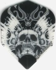 Skull On Black Background Target Dart Flights: 3 per set