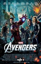 The Avengers poster : Captain America, Iron Man, Hulk Thor : 11 x 17 inches