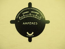Gauge Plate for Lucas Amperes Ariel Norton -NEW- #12A