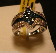 Blue Velvet Diamond Ring Sz. 7  54 diamonds .40tcw MSRP $799
