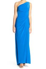 Adrianna Papell New One-Shoulder Draped Jersey Gown Size 4 #AN 618