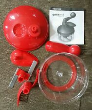 Tupperware Quick Chef Food Processor Red Complete Appears Unused