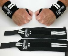 WEIGHT LIFTING WRIST SUPPORT STRAPS WRAPS GYM BODYBUILDING TRAINING