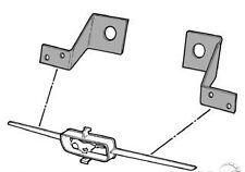 Mustang Grill Bar Mounting Brackets GT 1964 - 1965 - Mr. Mustang
