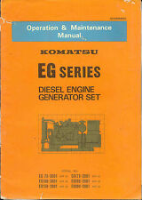 Komatsu EG Series Diesel Engine Generator Set Operation & Maintenance Original