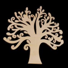 New Tree Simple Shape Laser Cut Mdf Wooden Shape Wood Craft Arts Decoration