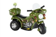 NEW Kids 6V Ride on Electric Bike ARMY Flash Siren Outdoor Indoor Toy / Toys