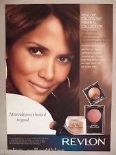 Halle Berry for Revlon Colorstay Makeup Cosmetics PRINT AD - 2009