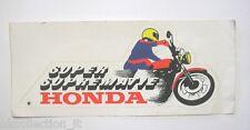 VECCHIO ADESIVO MOTO / Old Sticker Vintage HONDA SUPER SUPREMATIE (cm 22x 9)