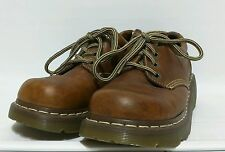 Doc Martens Leather Oxford Light Brown Shoes US Men's Size 8M Ladies 9