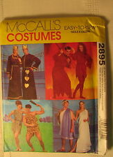 New Vtg McCall's Costumes Pattern 2895 Size XS S M L XL King Devil Fred Wilma