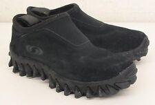 Salomon Black Suede Leather Mocs w/Ortholite Insoles US Men's 7.5 EU 39 1/3