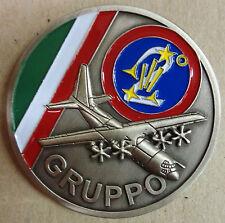 """Moneta/Coin commemorativa """"2° GRUPPO VOLO - 46° BRIGATA AEREA"""" - (Originale)"""