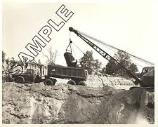 DODGE TRUCK 1958 D800 & DUNHAM TRAILER w/BUCYRUS-ERIE 22-B 8x10 B&W GLOSSY PHOTO