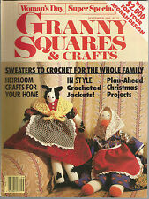 Granny Squares & Crafts September 1989 Crochet Sweaters/Heirloom Crafts/Jackets