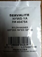 "NYLON WASHER .625"" OD X .194"" IDX X .125"" THICK PACK OF 10"