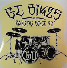 GT Decal Sticker Banging Since 1972 BMX Park Street Racing Bikes Bicycle