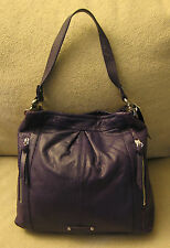 NW $278 B. MAKOWSKY Medium Purple Violet Lavender Satchel Tote Hobo Shoulder Bag