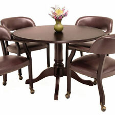 """TRADITIONAL ROUND CONFERENCE ROOM TABLE 42"""" Mahogany Wood Office Meeting Space"""