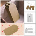 100/500 Kraft Paper Gift Tags Scallop Label Luggage Wedding Blank + Strings