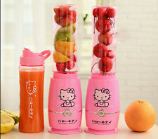 New Mini Cute Hello Kitty Pattern Juicer Smoothie Blender Fruit Vegetable Juicer