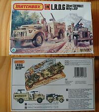 MATCHBOX 1/76 maquette 40173 L.R.D.G. 30Cwt Chevrolet Willy's Jeep diorama rare
