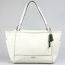 COACH 29898 PARK LEATHER CARRIE TOTE PURSE BAG PARCHMENT/OFF WHITE NWT/NEW