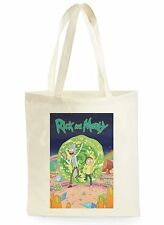 FUNNY RICK AND MORTY POSTER SHOPPING CANVAS TOTE BAG IDEAL GIFT PRESENT