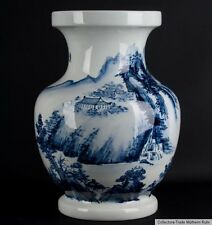 China  20. Jh. Große - A Chinese Blue & White Baluster Vase - Cinese Chinois