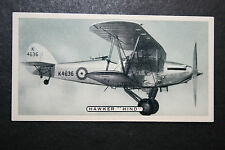 Hawker Hind   RAF Fighter Bomber   1930's Original Vintage Card # VGC