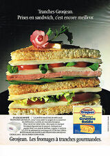 PUBLICITE ADVERTISING 044   1987   GROSJEAN  fromage gruyère fondu