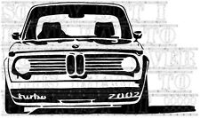 BMW 2002 turbo rally classic M3 mirror/wall art Vinyl Decal sticker great detail