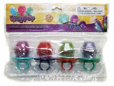 GBG BEAUTY 4pc Gift Set RING POP Lip Gloss Rings CANDY FLAVORED Shimmer Glosses!