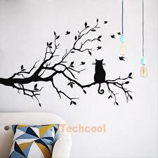 Removable Tree and Cat Wall Sticker Wall Paper Art Decal Home Wall Bedroom Decor