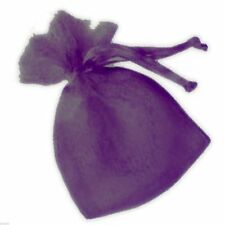 Small Purple Organza Bags Pack of 10