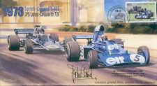 1973 TYRRELL-COSWORTH JPS LOTUS-COSWORTH MONACO F1 cover signed JACKIE STEWART