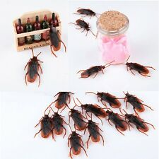 Funny Toys Fake Roaches Joke Cockroach Shape Toy Lifelike Blackbeetle