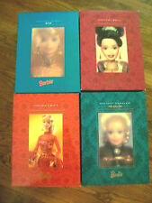 Lot of 4 Holiday Gift Barbie 1998 - HOLIDAY BALL 97-Holiday Caroler 96  & Jewel