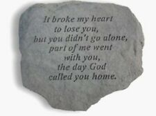 """Kay Berry It broke my heart to lose you - 60820 Memorial Stone 23"""" x 18"""" x 5.5"""""""