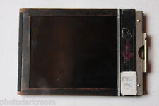 "Agfa Ansco NY USA Film Holder 4x5"" Cut Sheet Film - Wood/Metal - USED H190"