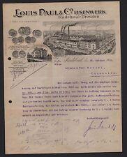 RADEBEUL, Brief 1920, Eisenwerk Louis Paul & Co.