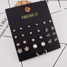 13Pairs New Forever21 Stud Earrings Mixed Shapes Gift Lovely Girl/Women Jewelry