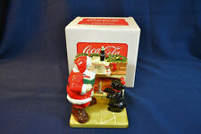 COCA COLA HOLIDAY PORTRAITS Salt And Pepper Shakers Mint In Box