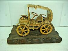 VINTAGE ANTIQUE  RUSTIC  MODEL CAR MADE FROM HINGES  MADE IN SPAIN
