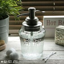 Vintage Kilner Mason Jar Soap Dispenser with Stainless Steel Water Well Pump