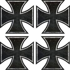 "761.2.5 ProSticker Four 2.5"" Rat Rod Iron Cross Decals Stickers Distressed Parts"