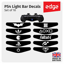 10 X Playstation PS4 Controller Light Bar Decal SET Personalised Custom Sticker